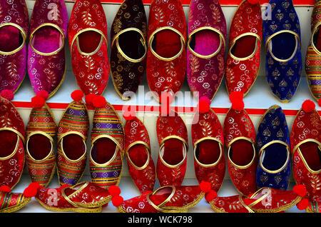 Indische, Türkische traditionelle Hausschuhe - Stockfoto