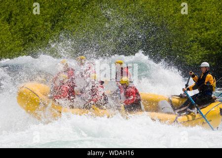 Rafting am fluss Futaleufu, Chile - Stockfoto