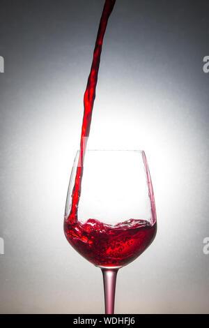 In der Nähe von Gießen Wein in Glas - Stockfoto