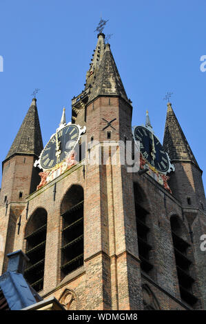 Oude Kerk, alte Kirche, Oude Jan ('Alte John'), Delft, Niederlande, Europa - Stockfoto