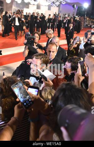 Venedig, Italien - 29 August, 2019. Brad Pitt nimmt an den roten Teppich von AD ASTRA während des 76. Filmfestival von Venedig am 29. August 2019 in Venedig, Italien. © Andrea Merola/Erwachen/Alamy leben Nachrichten - Stockfoto