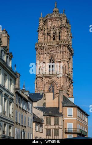 Frankreich, Aveyron, Rodez, die Kathedrale aus dem 13.-16. Jahrhundert - Stockfoto