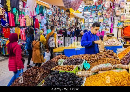Marokko, Rabat, als Weltkulturerbe von der UNESCO, Medina, Altstadt, der überdachten Souk aufgeführt Stockfoto