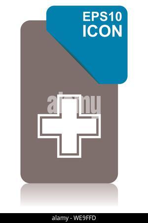 Apotheke schwarz und Blau vector Zeiger Symbol auf weißem Hintergrund in der Eps 10. - Stockfoto