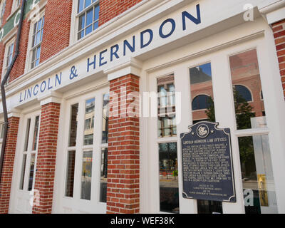 Lincoln-Herndon Law Office, Springfield, Illinois. - Stockfoto