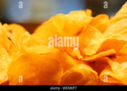 Nahaufnahme der Kartoffelchips - Stockfoto