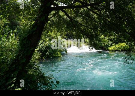 Schöne Wasserfälle von Krka, Nationalpark Krka, Kroatien, Europa - Stockfoto