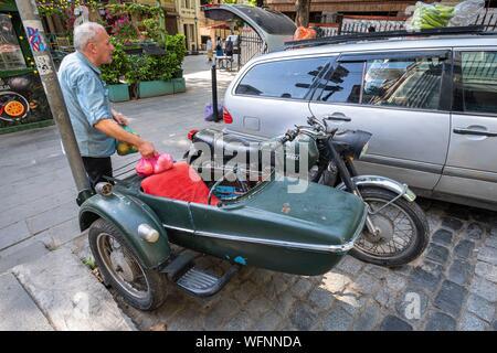 Georgien, Tiflis, Tiflis oder Dzveli Kalaki, alten sowjetischen Seitenwagen