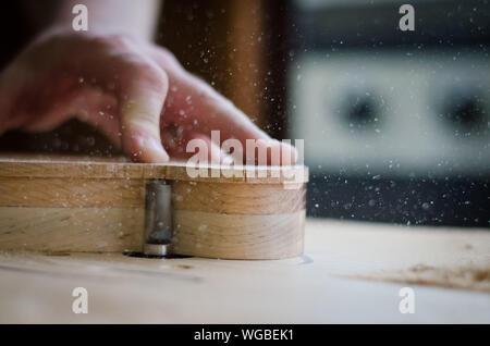 Nahaufnahme einer Gitarre Gestaltung - Stockfoto