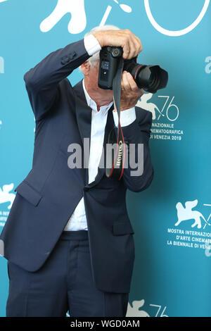 Venedig, Italien. 01 Sep, 2019. Yann Artus-Bertrand besucht die Frau photocall während des 76. Filmfestival von Venedig Credit: Mickael Chavet/Alamy leben Nachrichten - Stockfoto
