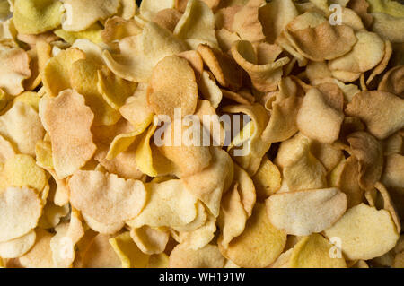 Full Frame Geschossen von Kartoffelchips - Stockfoto