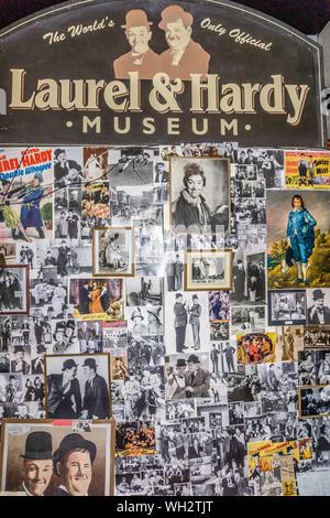 Laurel und Hardy Museum, das Roxy, Brogden Straße, Ulverston, Cumbria, England, Großbritannien - Stockfoto