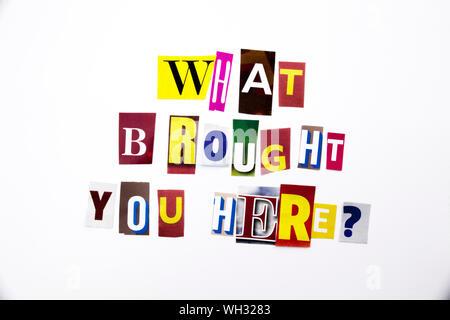 In der Nähe der bunten Text auf weißem Hintergrund - Stockfoto
