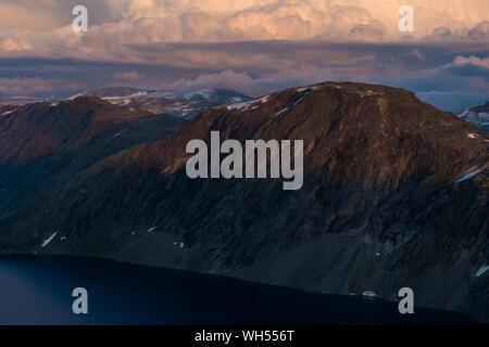 Schöne Landschaft vom Dalsnibba Sicht - Stockfoto
