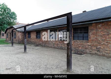 Oswiecim, Polen. 19 August, 2019. Ns-Konzentrationslager in Auschwitz I, Auschwitz, Polen, am 19. August 2019. - Stockfoto