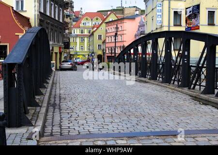 Eiserne Brücke in Klodzko, Polen - Stockfoto