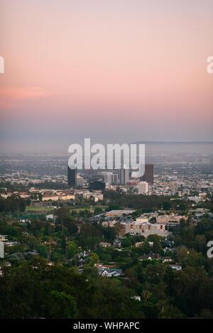 Sonnenuntergang Blick vom Getty Center, Los Angeles, Kalifornien - Stockfoto