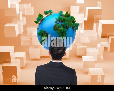 Zusammengesetztes Bild des asiatischen Geschäftsmann - Stockfoto