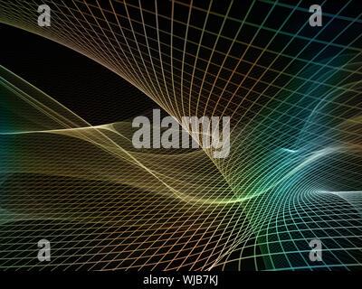 Fraktal-Realms-Serie. Hintergrund-Design von Fraktalen Elemente, Gitter und Symbole zum Thema Bildung, Wissenschaft und Technologie - Stockfoto