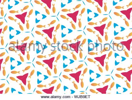 Das Muster der ein Kaleidoskop der Fische und Luftblasen - Stockfoto