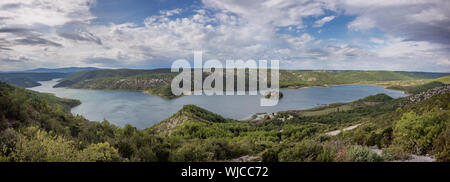 Insel Visovac katholischen Kloster Insel in Kroatien - Stockfoto