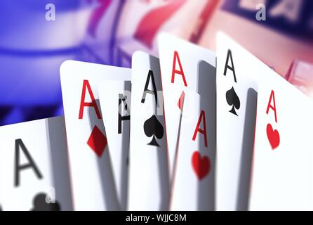 Close-up von Ace-Karten - Stockfoto