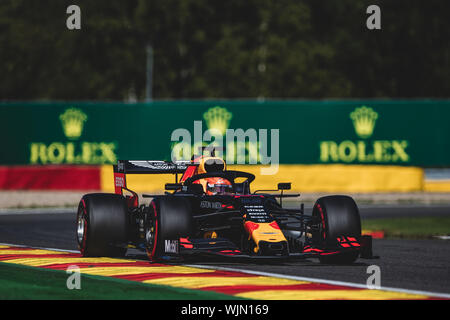 Nr. 33, Max Verstappen, NED, Red Bull, in Aktion während des Grand Prix von Belgien in Spa Francorchamps