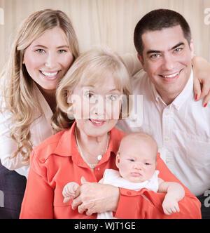 Familiengeneration Porträt - Stockfoto