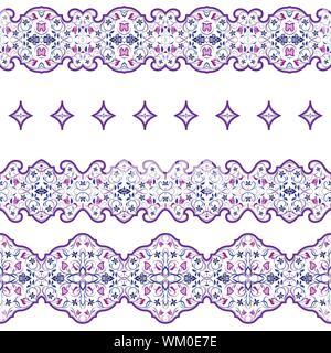 traditionelle arabische muster auf keramische wandfliesen