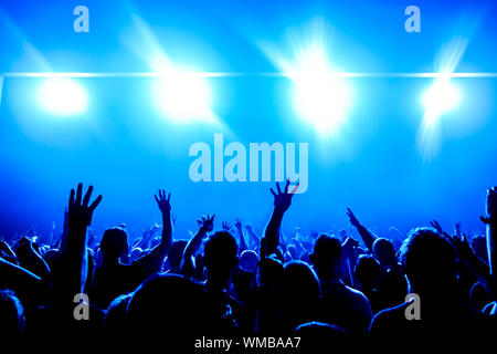 Menge an Musikkonzert - Stockfoto