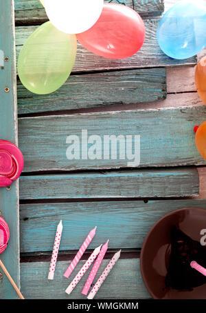 Geburtstag Hintergrund. Geburtstag Feier mit kopieren. Geburtstag Grußkarte - Stockfoto