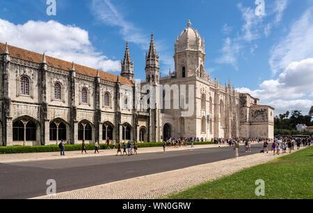 Hieronymus-Kloster in Belém in der Nähe von Lissabon, Portugal - Stockfoto