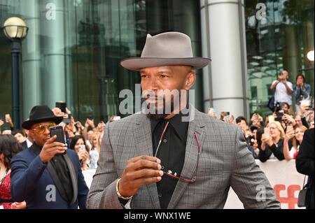 Toronto, Ontario, Kanada. 6. Sep 2019. JAMIE FOXX nimmt an der ' ' Nur Barmherzigkeit'' Premiere während der 2019 Toronto International Film Festival in der Roy Thomson Hall am September 06, 2019 in Toronto, Kanada Quelle: Igor Vidyashev/ZUMA Draht/Alamy leben Nachrichten - Stockfoto