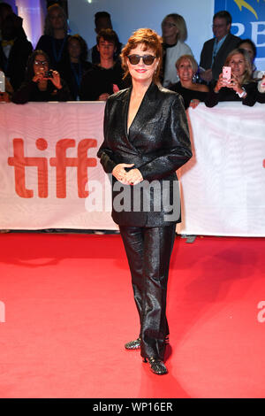 Toronto, Ontario, Kanada. 6. Sep 2019. Schauspielerin Susan Sarandon besucht 'Blackbird' Premiere während der 2019 Toronto International Film Festival in der Roy Thomson Hall am 6. September 2019 in Toronto, Kanada Quelle: Igor Vidyashev/ZUMA Draht/Alamy leben Nachrichten - Stockfoto