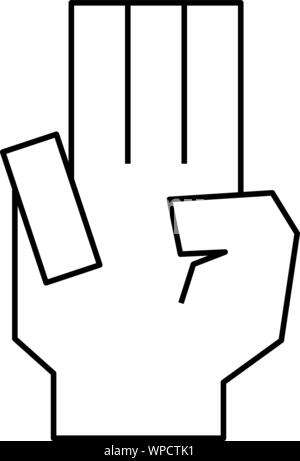 Dies ist ein Beispiel für eine Hand Zeichen - Stockfoto