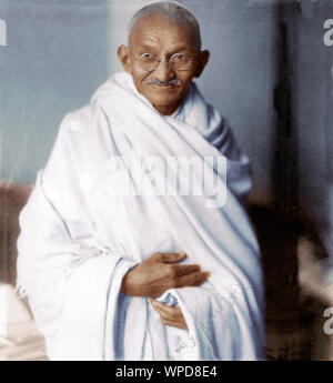 Seltene studio Foto von Mahatma Gandhi in London, 1931 - Stockfoto