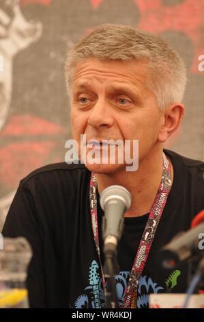 Kostrzyn nad Odra, Polen. 4-6 08 2011. Woodstock Festival. Im Bild: Marek Belka - Stockfoto