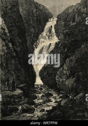 Queen Victoria in den Highlands: Fällt der Glassalt. Schottland 1880 - Stockfoto