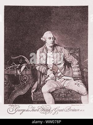 George III von dem Vereinigten Königreich (1738 - 1820) Das dritte britische Monarch aus dem Haus Hannover, unter seiner Herrschaft war Napoleon in der Schlacht von Waterloo besiegt - Stockfoto