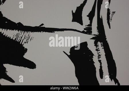 Feine schwarze und weiße Kunst Fotografie von den 1970er Jahren von einer abstrakten. - Stockfoto