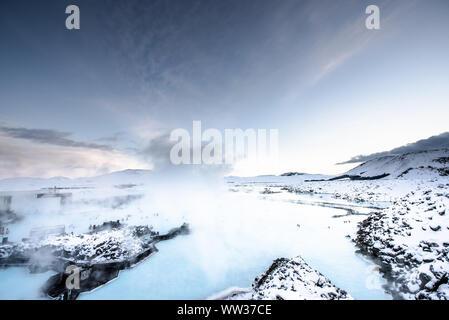 Blue Lagoon Hot Spring Spa Island - Stockfoto