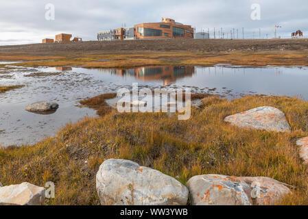 Kanadischen High arktischen Forschungsstation in Cambridge Bay, Nunavut, Kanada - Stockfoto