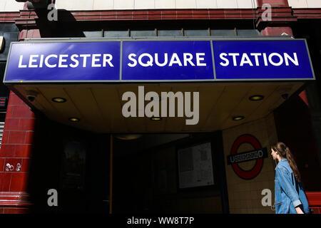 London, Großbritannien. 13 Sep, 2019. Eine Außenansicht von Leicester Square in London. Credit: Dinendra Haria/SOPA Images/ZUMA Draht/Alamy leben Nachrichten - Stockfoto
