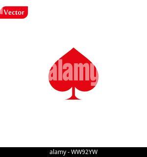 Roten Flachstecker Symbol. Karte Vektor auf weißem Hintergrund. Eps 10. - Stockfoto