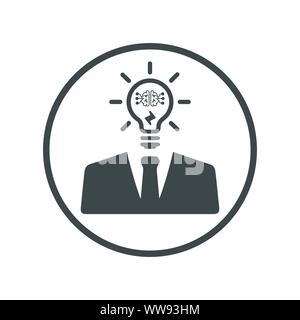 Schönes Design und voll editierbar unternehmerischen Denken, Ideen generieren, intelligente Idee, Symbol für kommerzielle, Printmedien, Web oder jede Art von Design Projekten. - Stockfoto