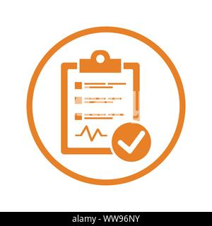 Schönes Design und voll editierbar Diagnosebericht Symbol für kommerzielle, Printmedien, Web oder jede Art von Design Projekten. - Stockfoto