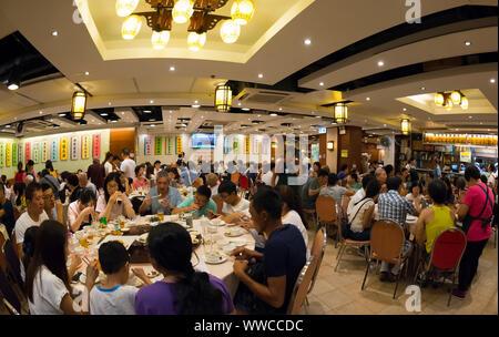 In einem chinesischen Restaurant, Hongkong, China. - Stockfoto