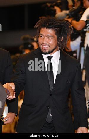 Tokio, Japan. Credit: MATSUO. 13 Sep, 2019. € Shota Horie (JPN) Rugby: Rugby World Cup 2019 Begrüßungszeremonie für Japan in Tokio, Japan. Credit: MATSUO. K/LBA SPORT/Alamy leben Nachrichten - Stockfoto