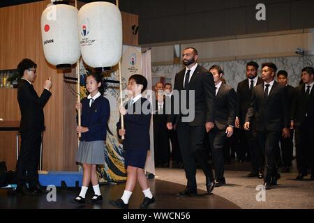 Tokio, Japan. Credit: MATSUO. 13 Sep, 2019. Michael Leitch (JPN) Rugby: Rugby World Cup 2019 Begrüßungszeremonie für Japan in Tokio, Japan. Credit: MATSUO. K/LBA SPORT/Alamy leben Nachrichten - Stockfoto