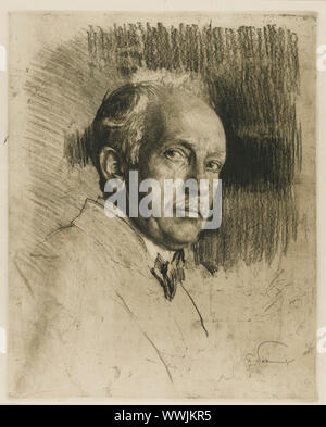 Portrait des Komponisten Richard Strauss (1864-1949), C. 1914. Private Sammlung. - Stockfoto